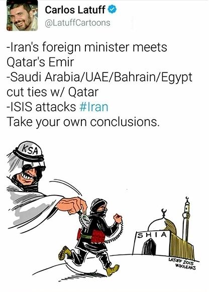کاریکاتور انگلیسی حادثه تروریستی تهران