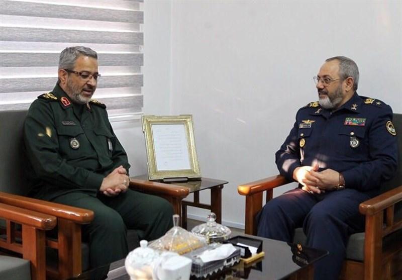 دیدار فرمانده نیروی هوایی ارتش با سردار غیب پرور2