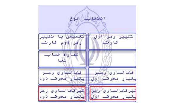 غیرفعال کردن رمز یک بار مصرف کارت های بانک ملی ایران
