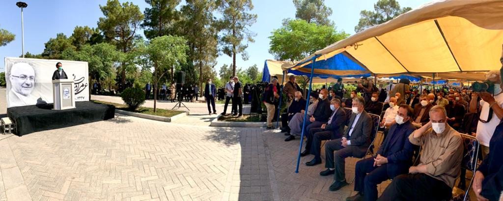 حجت الاسلام دعایی در مراسم تشییع علی مرادخانی