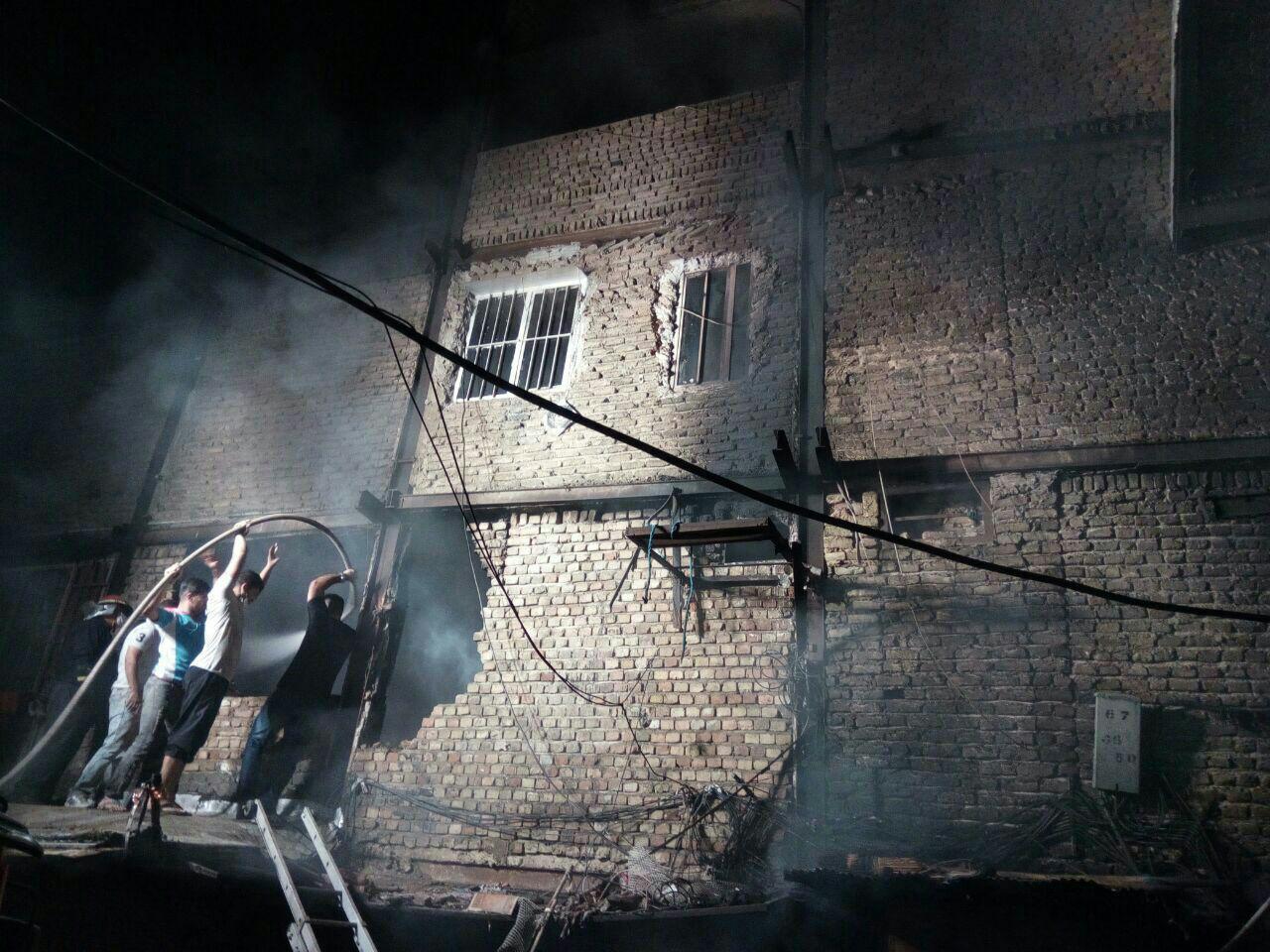 آتش سوزی پاساژ قائم خرم آباد