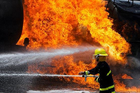 آتش سوزی هتل ایرانیان در نجف اشرف