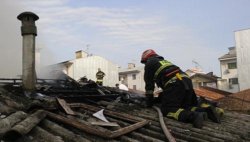 آتش سوزی+ خانه ویلایی در رشت