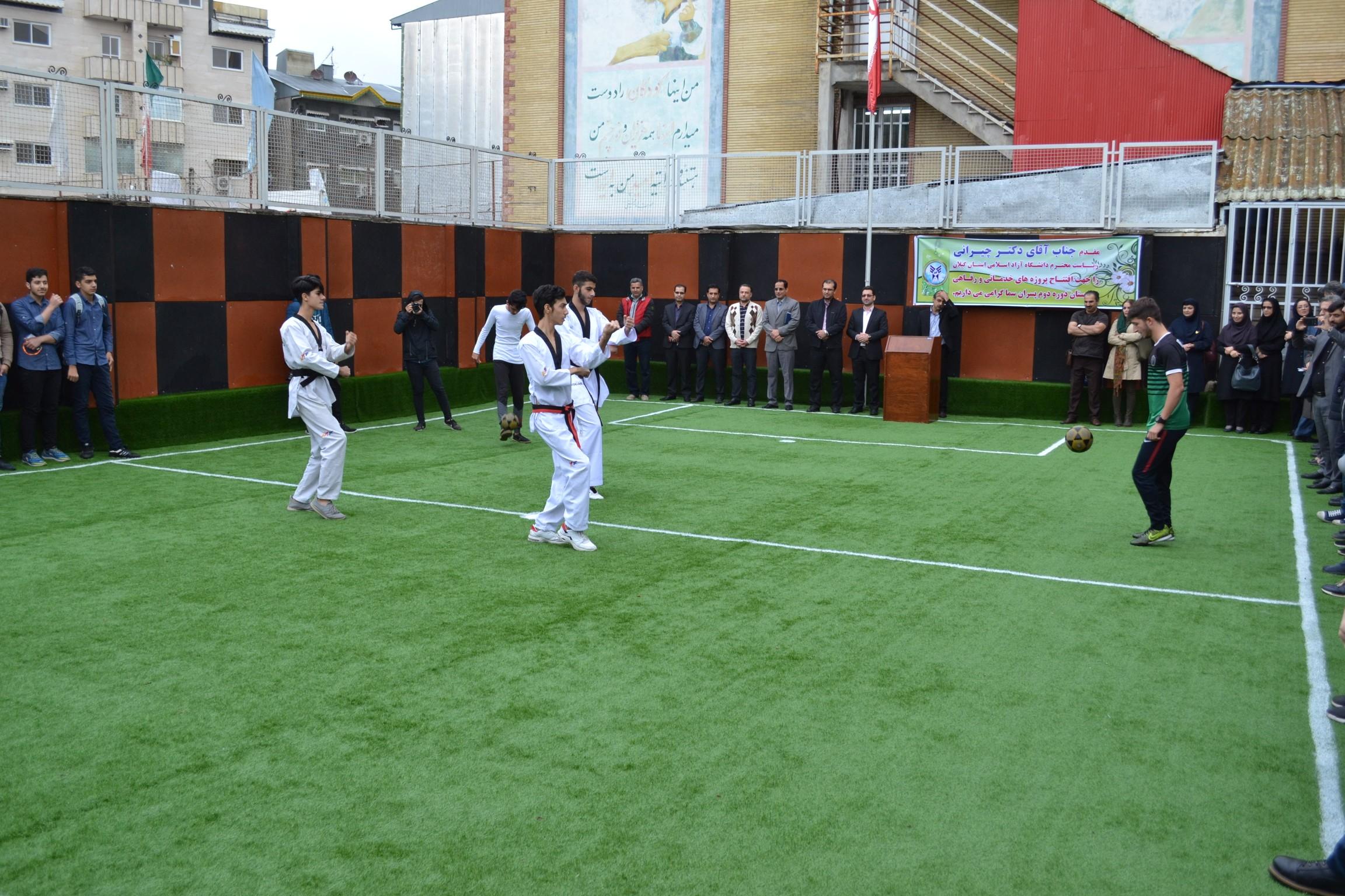 افتتاح پروژه های عمرانی دبیرستان دوره دوم پسران سما واحد رشت