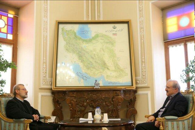 دیدار نمکی و لاریجانی