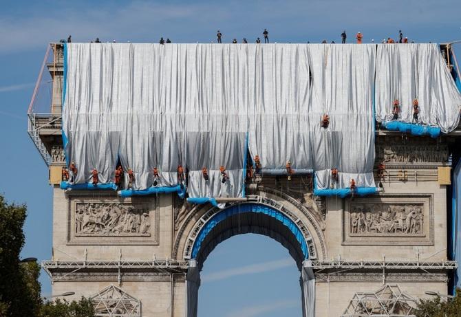 پارچه پیچی طاق نصرت پاریس