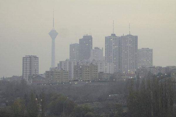 شاخص کیفیت هوای تهران 10 بهمن