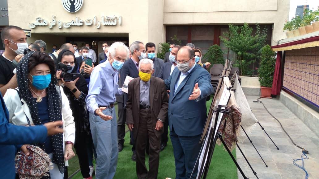 احمد سمیعی گیلانی در مراسم افتتاح موزه انتشارات علمی و فرهنگی