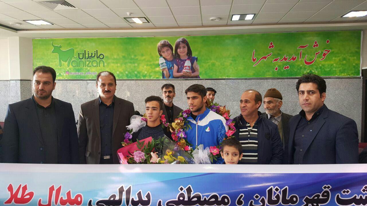 استقبال از کونگ فو کاران کرمانشاهی