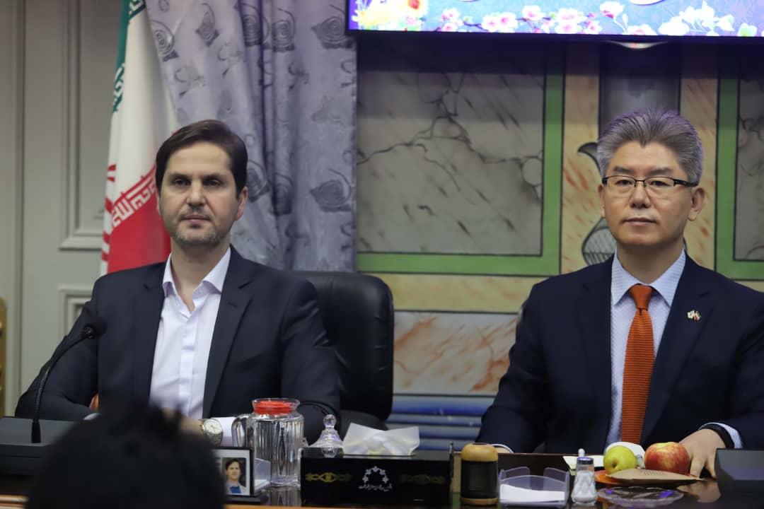 رئیس شورای اسلامی رشت در دیدار با سفیر کره جنوبی