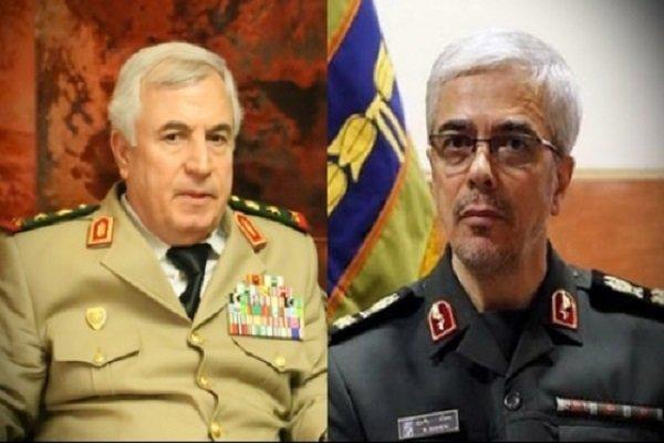 سرلشکر باقری و وزیر دفاع سوریه