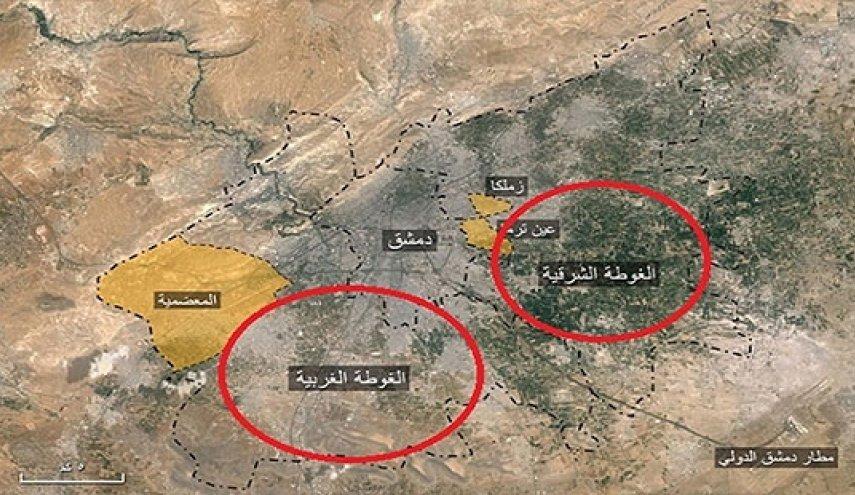 حملات تروریست ها در غوطه شرقی