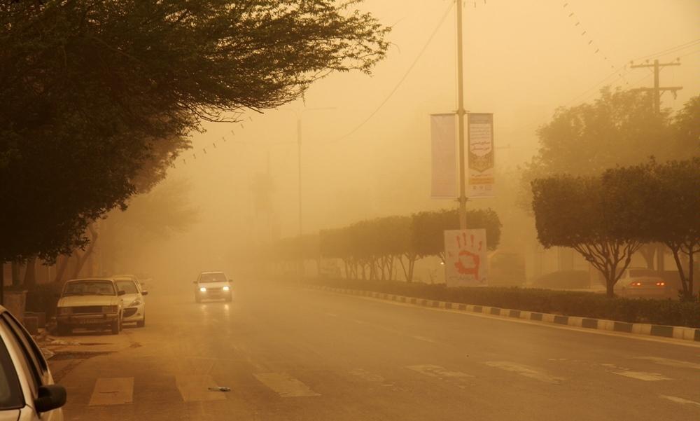 گردوغبار و مه در انتظار نواحی مرزی کرمانشاه