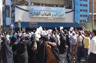 اعتراض مردم آبادان به شوری آب