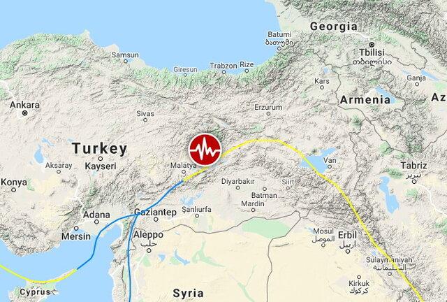 مرکز وقوع زمینلرزه در شرق ترکیه