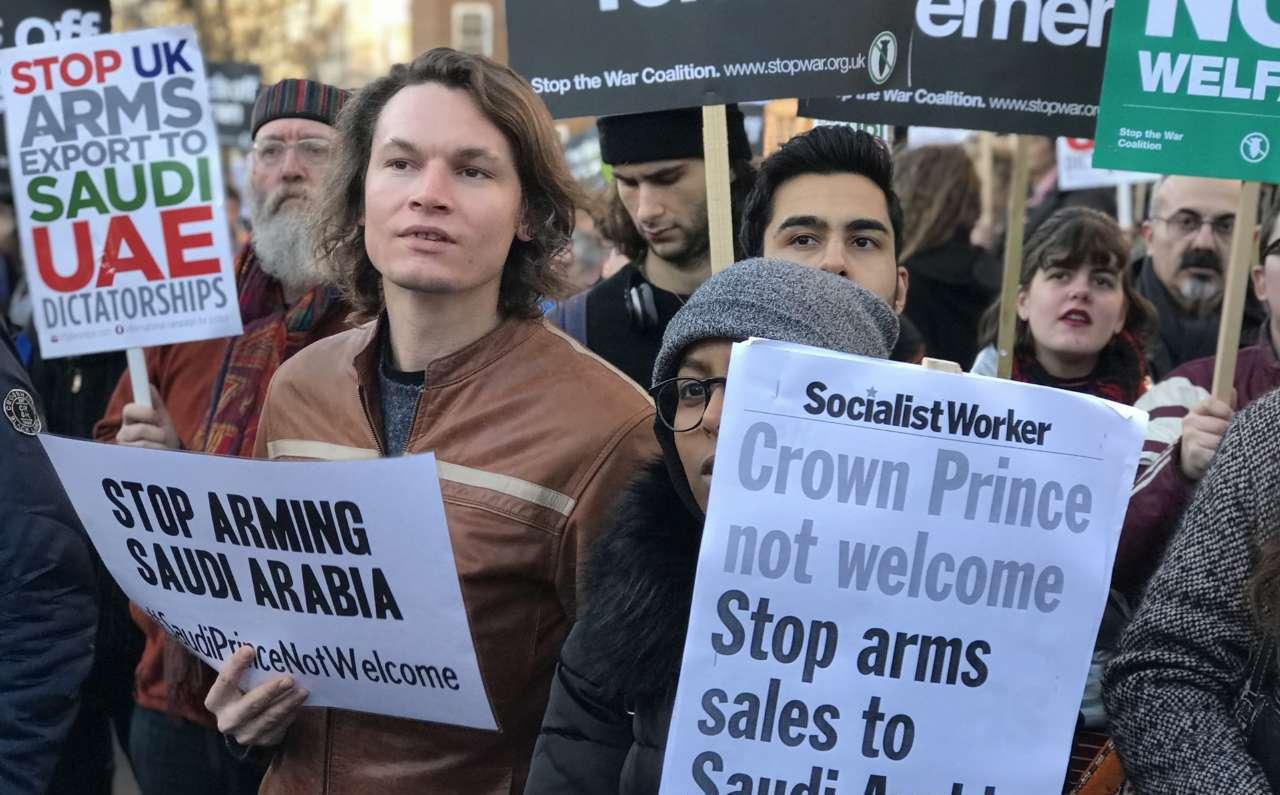 تظاهرات علیه عربستان در انگلیس