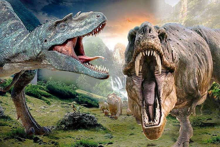دایناسور در پارک