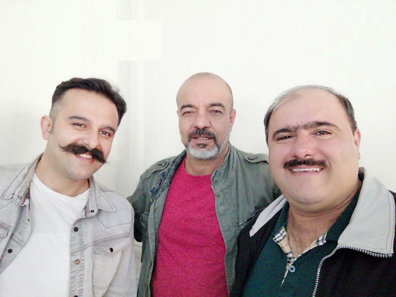 حسین موسوی و سعید آقاخانی در سریال نون خ