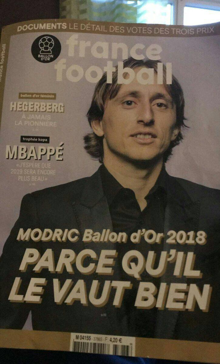 نمایی از جلد مجله فرانس فوتبال برای فردا