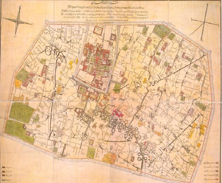 اولین نقشه تهران