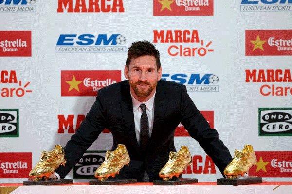 لیونل مسی کفش طلا