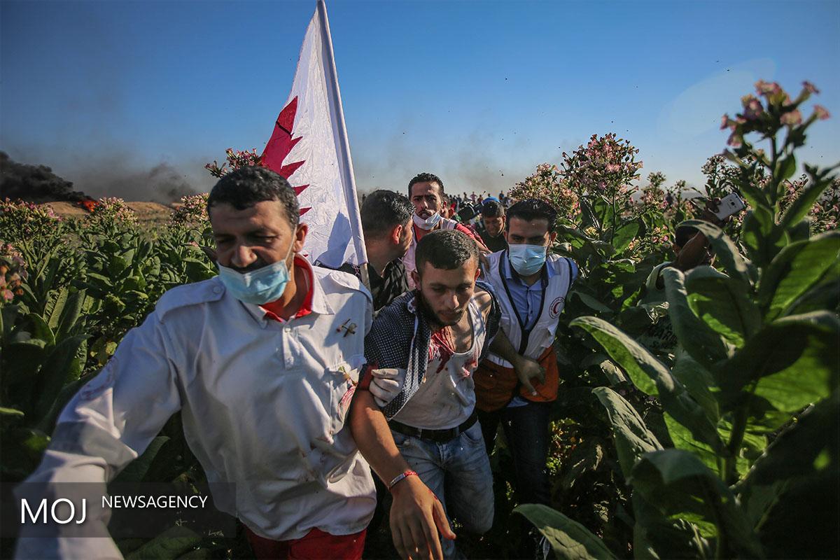 تظاهرات گسترده فلسطینی ها