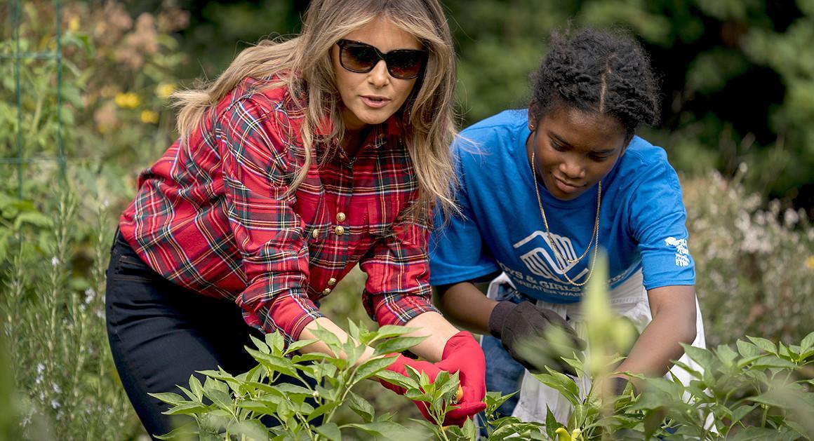 ملانیا در کاخ سفید