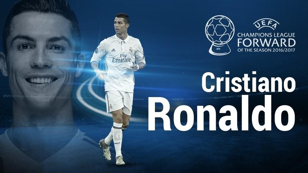 کریستیانو رونالدو بهترین مهاجم فصل لیگ قهرمانان اروپا
