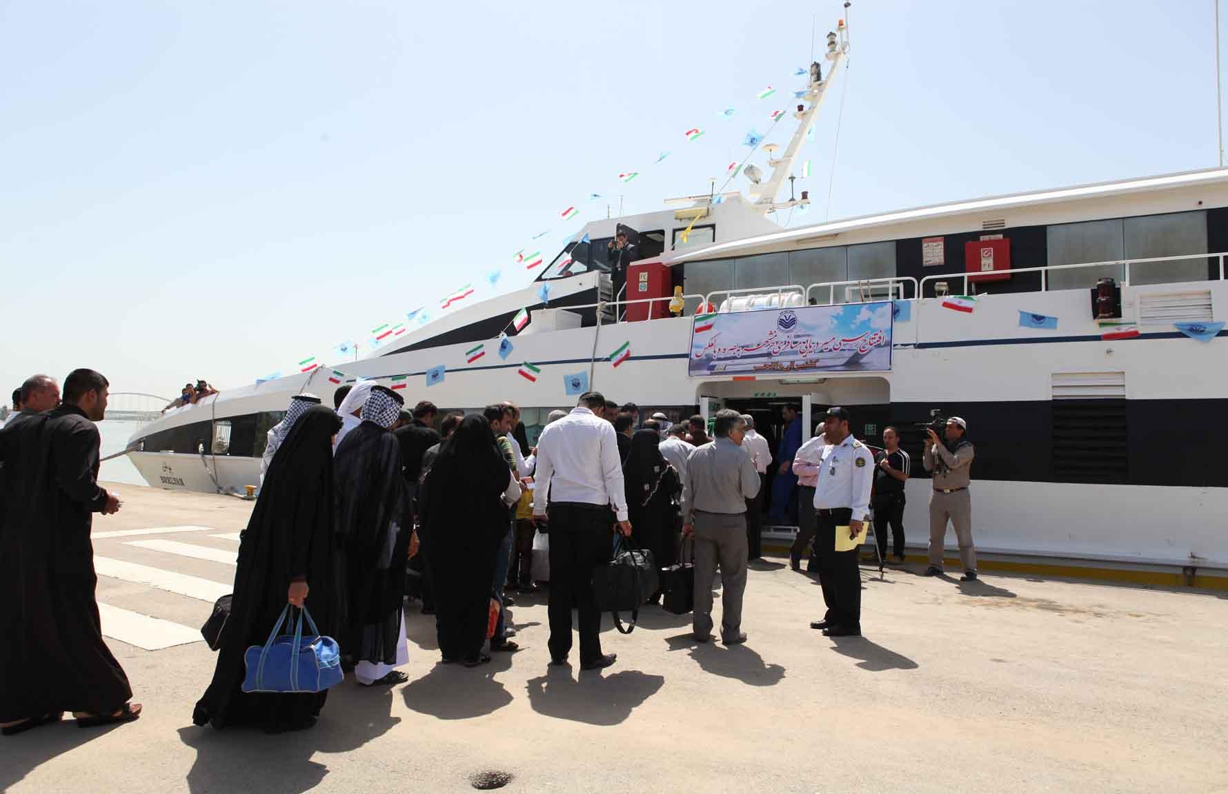 تردد مسافر در بندر خرمشهر