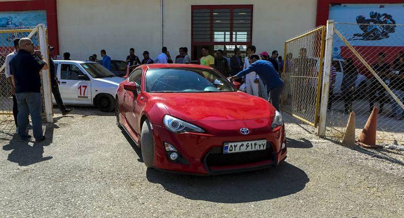 مسابقه اتومبیلرانی اسلالوم در قشم برگزار می شود