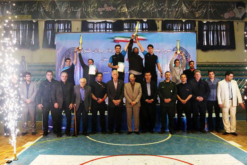 کردستان قهرمان رقابت های ورزش زورخانه ای جوانان کشور شد
