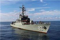 ناوگروه ٤٥ نیروی دریایی ارتش در هند پهلو گرفت