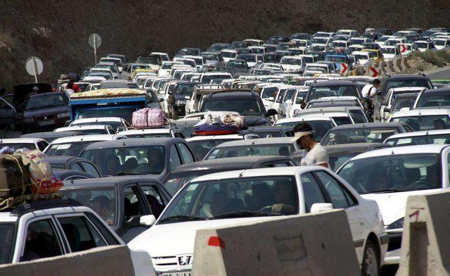 ترافیک سنگین و پرحجم در محور چالوس