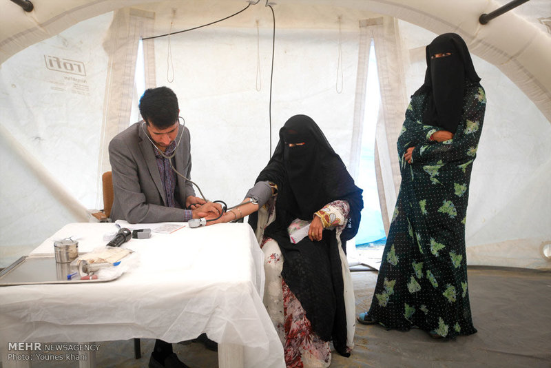 برپایی بیمارستان صحرایی سپاه در جاسک