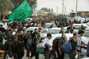 تامین ایمنی مراسم راهپیمایی جاماندگان اربعین توسط آتش نشانان