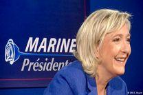 لوپن در دور اول انتخابات ماکرون را شکست میدهد