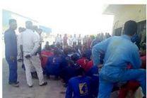 ادامه تجمع اعتراض آمیز کارگران کشتی سازی بحر گسترش هرمز