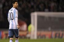 مسی در دیدار با تیم ملی ونزوئلا موفق نبود