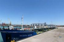 نخستین کشتی حامل روغن خوراکی در بندر امیرآباد پهلو گرفت