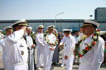 آیین استقبال از ناوگروه شصت و سوم نیروی دریایی ارتش برگزار شد