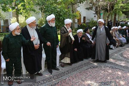 تجمع طلاب و روحانیون تهرانی در حمایت از سپاه