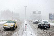 بارش برف و باران در محورهای مواصلاتی ۲۳ استان کشور