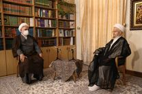 دیدار و گفتوگوی رئیس دستگاه قضا با آیت الله مکارم شیرازی