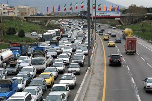آخرین وضعیت ترافیکی در محورهای مواصلاتی