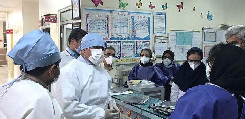 بازدید فرماندار شهرستان خمینی شهر از بیمارستان 9 دی منظریه