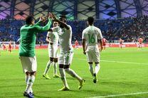 نتیجه بازی عربستان و لبنان/ صعود عربستان به یک هشتم نهایی جام ملت ها