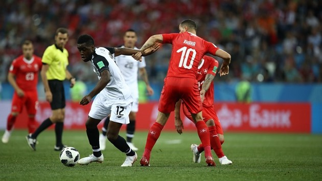 پایان نیمه اول با برتری سوئیس مقابل کاستاریکا