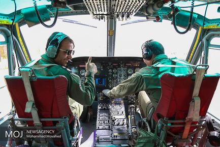 خدمات اورژانس هوایی قم در ایام شهادت حضرت فاطمه (س)