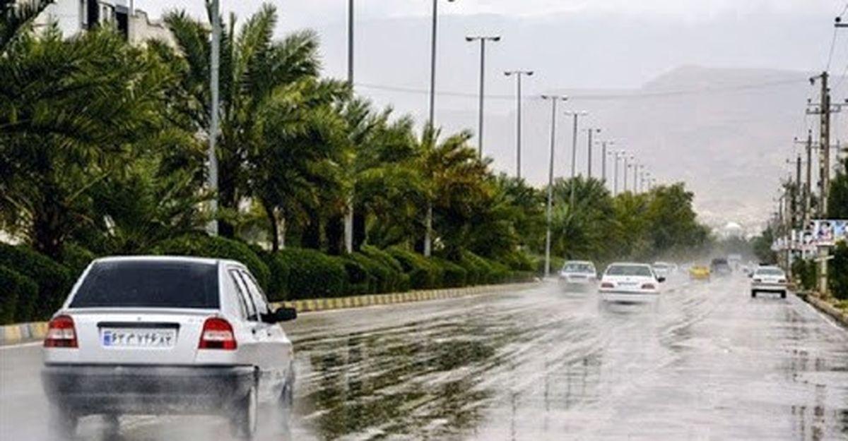 بارش برف و باران در محورهای مواصلاتی چهار استان کشور
