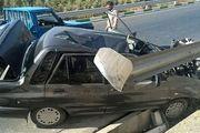 برخورد مرگبار کامیون با پراید در بزرگراه امام علی (ع)